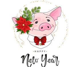 Happy new year of the pig vectors
