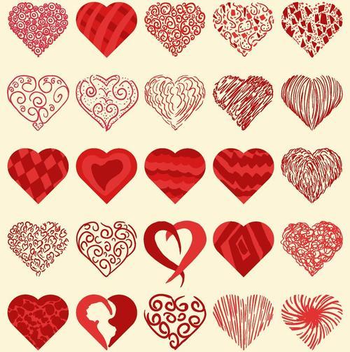 Heart shape valentines day illustration vector 01