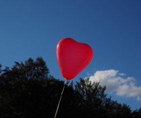 Heart shaped red balloon Stock Photo 03