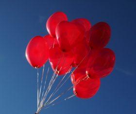 Heart shaped red balloon Stock Photo 04