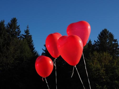 Heart shaped red balloon Stock Photo 06