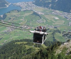 High altitude cable car Stock Photo 01