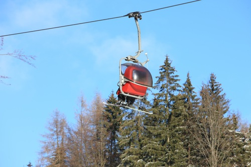 High altitude cable car Stock Photo 02