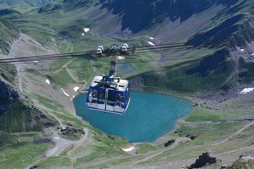 High altitude cable car Stock Photo 03