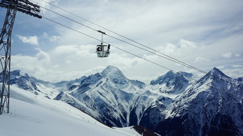 High altitude cable car Stock Photo 04