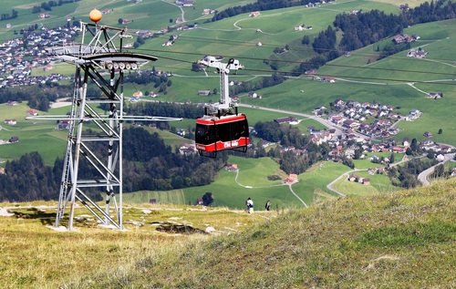 High altitude cable car Stock Photo 05