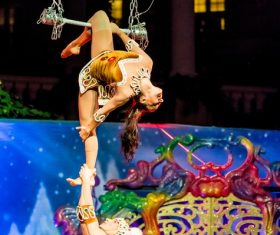 Highly ornamental acrobatic performance Stock Photo 11