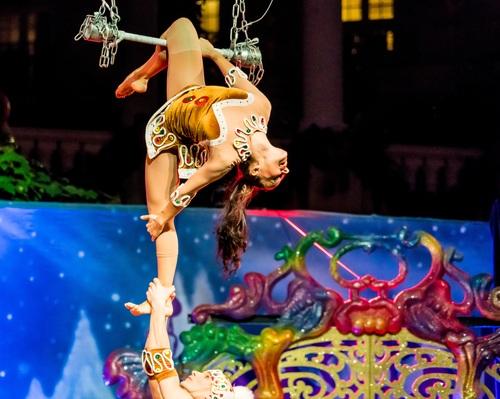 Highly ornamental acrobatic performance Stock Photo 11