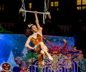 Highly ornamental acrobatic performance Stock Photo 12