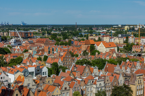 Historical and cultural city Gdansk city scenery Stock Photo 01