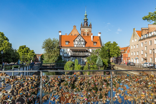 Historical and cultural city Gdansk city scenery Stock Photo 03