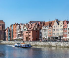 Historical and cultural city Gdansk city scenery Stock Photo 04