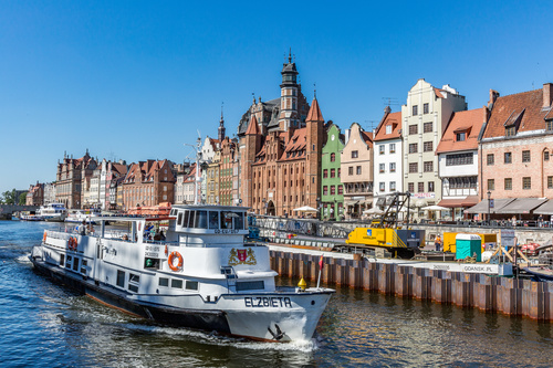 Historical and cultural city Gdansk city scenery Stock Photo 05