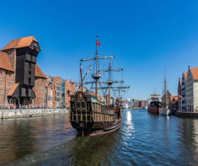 Historical and cultural city Gdansk city scenery Stock Photo 06