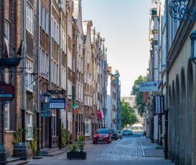 Historical and cultural city Gdansk city scenery Stock Photo 07