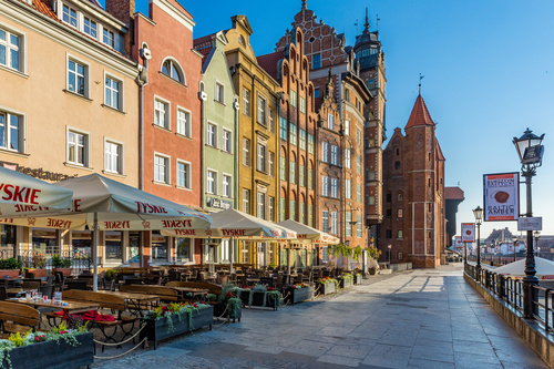 Historical and cultural city Gdansk city scenery Stock Photo 11