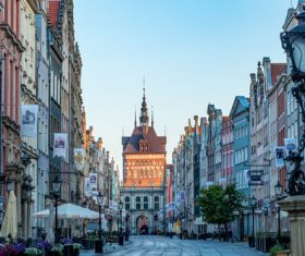 Historical and cultural city Gdansk city scenery Stock Photo 12