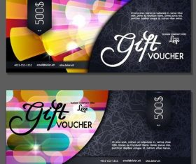 Holiday gift voucher template vectors 01