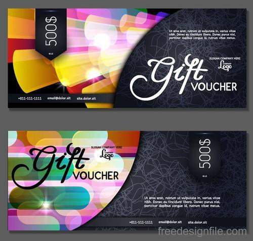 Holiday gift voucher template vectors 01