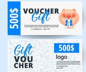 Holiday gift voucher template vectors 02