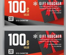 Holiday gift voucher template vectors 03
