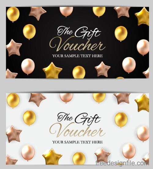 Holiday gift voucher template vectors 04