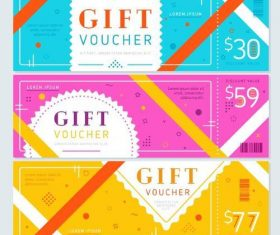 Holiday gift voucher template vectors 05