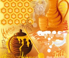 Honey bee creative poster vectors 02