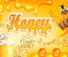 Honey bee creative poster vectors 04
