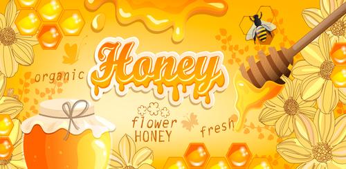 Honey bee creative poster vectors 04