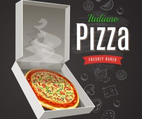 Hot Pizza poster vector
