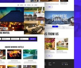 Hotel Booking Website Template PSD Design
