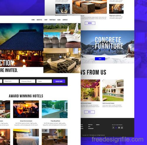 Hotel Booking Website Template PSD Design