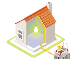 House geothermal 3D model vector 07