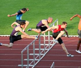 Hurdle race Stock Photo 03