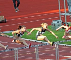 Hurdle race Stock Photo 04