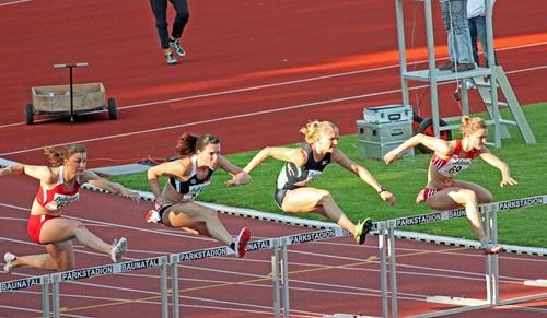 Hurdle race Stock Photo 04