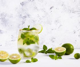 Iced lemon drink Stock Photo 02