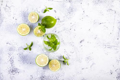 Iced lemon drink Stock Photo 03