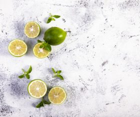 Iced lemon drink Stock Photo 04
