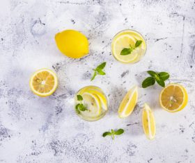 Iced lemon drink Stock Photo 05