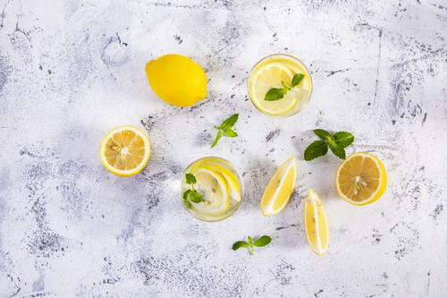 Iced lemon drink Stock Photo 05