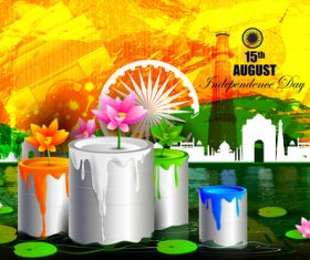 India independence day festvial design vector 01