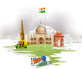 India independence day festvial design vector 02