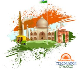 India independence day festvial design vector 05