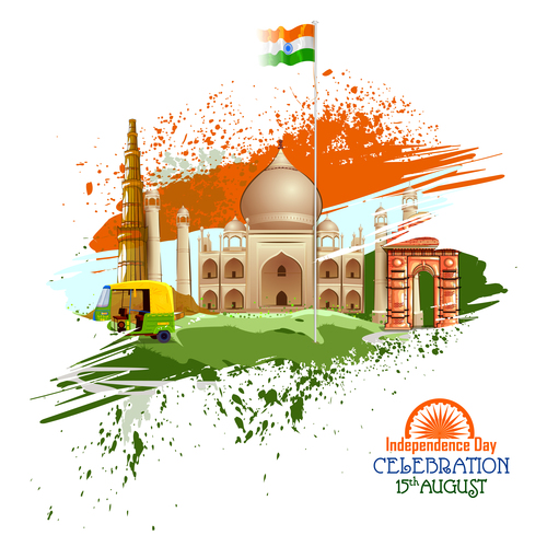 India independence day festvial design vector 05 free download
