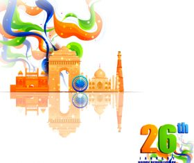 India republicday festvial design vector 01