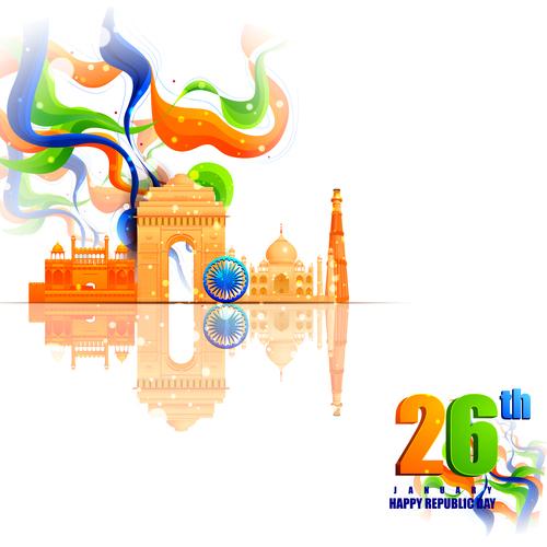 India republicday festvial design vector 01