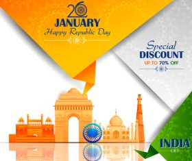 India republicday festvial design vector 02
