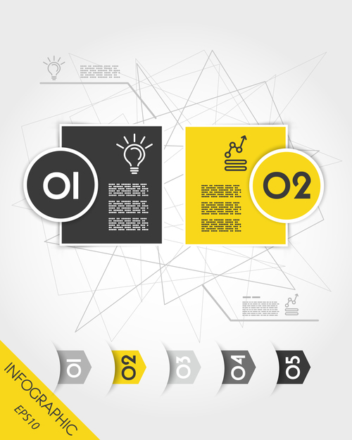 Infographic stickers with arrows vector